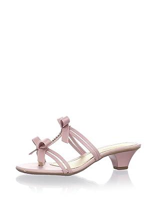 Pampili Kid's Double-Bow Kitten Heel Sandal (Pink)