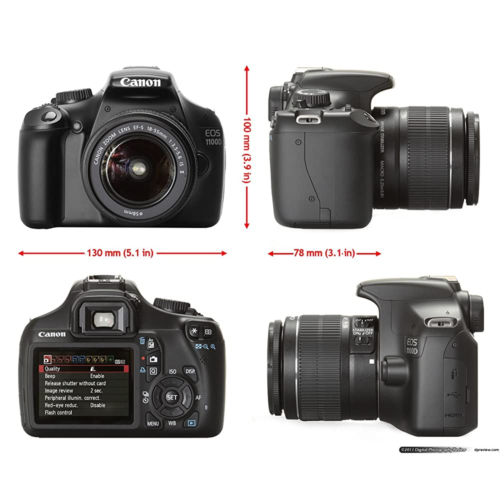 Camera Canon Eos 1100d 12mp Dslr Camera With 18-55mm Lens buy canon eos 1100d 12mp digital slr camera black with ef s 18 55 is 250 twin lens kit4gb sd cardcamera bag online
