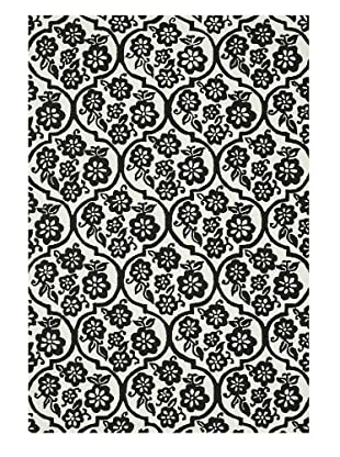 Loloi Rugs Venice Beach Indoor/Outdoor Rug (Ivory/Black)