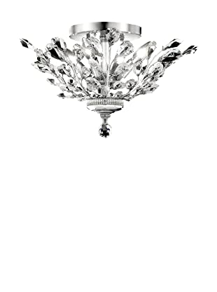 Crystal Lighting Orchid Flush Mount (Chrome and Crystal)