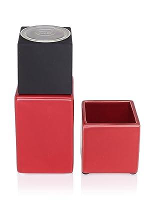 CULT DESIGN Cube Spice Bowl & Grinder Set, Red