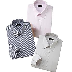 (フランコ コレツィオーニ)Franco Collezioni 防寒ワイシャツ3枚セット(カラー系)