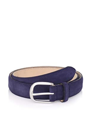 E.Tautz Men's Suede Belt (Navy)