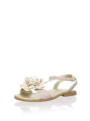 Pampili Kid's Rose T-Strap Sandal (Beige)