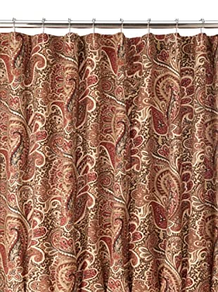 Chateau Blanc Paisley Shower Curtain, Stucco