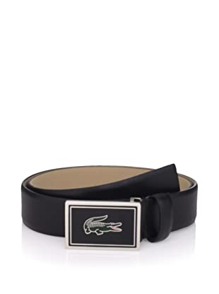 Lacoste Men's Feather Edge Strap Belt (Black)