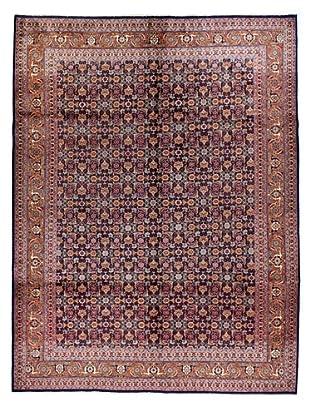Bashian Rugs One-of-a-Kind Hand Knotted Persian Tabriz Rug, Dark Blue, 7' 2
