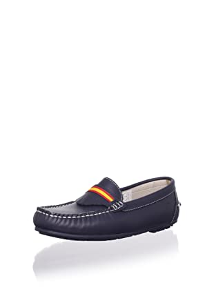 W.A.G. Kid's Moccasin with Fringe Detail (Navy)