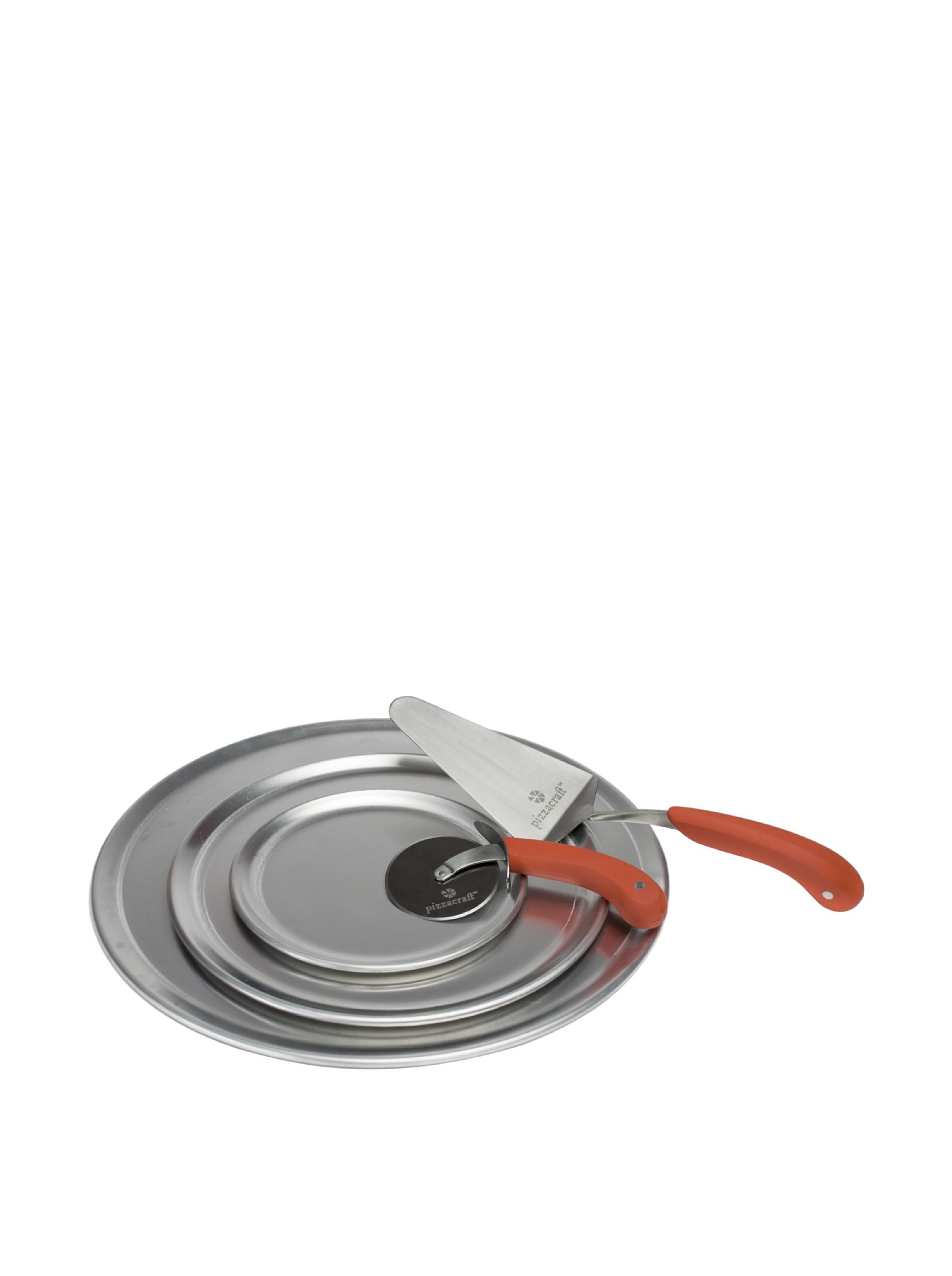 Pizzacraft Aluminum Pizza Pan Set (Orange)