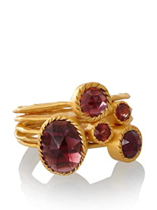 Kevia Set of 5 Stackable Garnet Rings