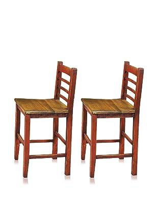 Reclaimed Wood Furniture Set of 2 Cerveza 30