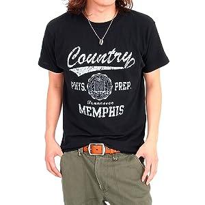 【4柄12色】別注オリジナルアメカジオールドカレッジロゴプリント半袖Tシャツ
