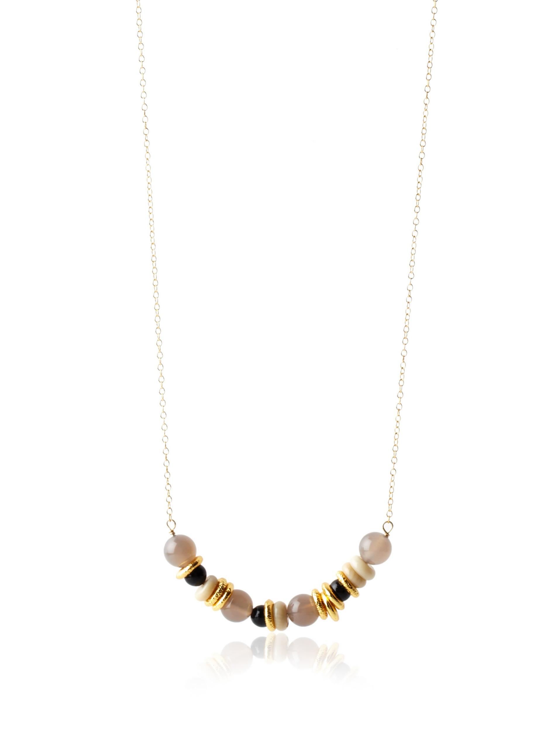gorjana Morocco Long Necklace, Gold/Black