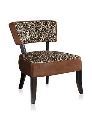 Armen Living Allison Club Chair, Leopard