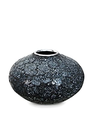 Global Pickings Midnight Oval Mosaic Vase (Midnight Glass)