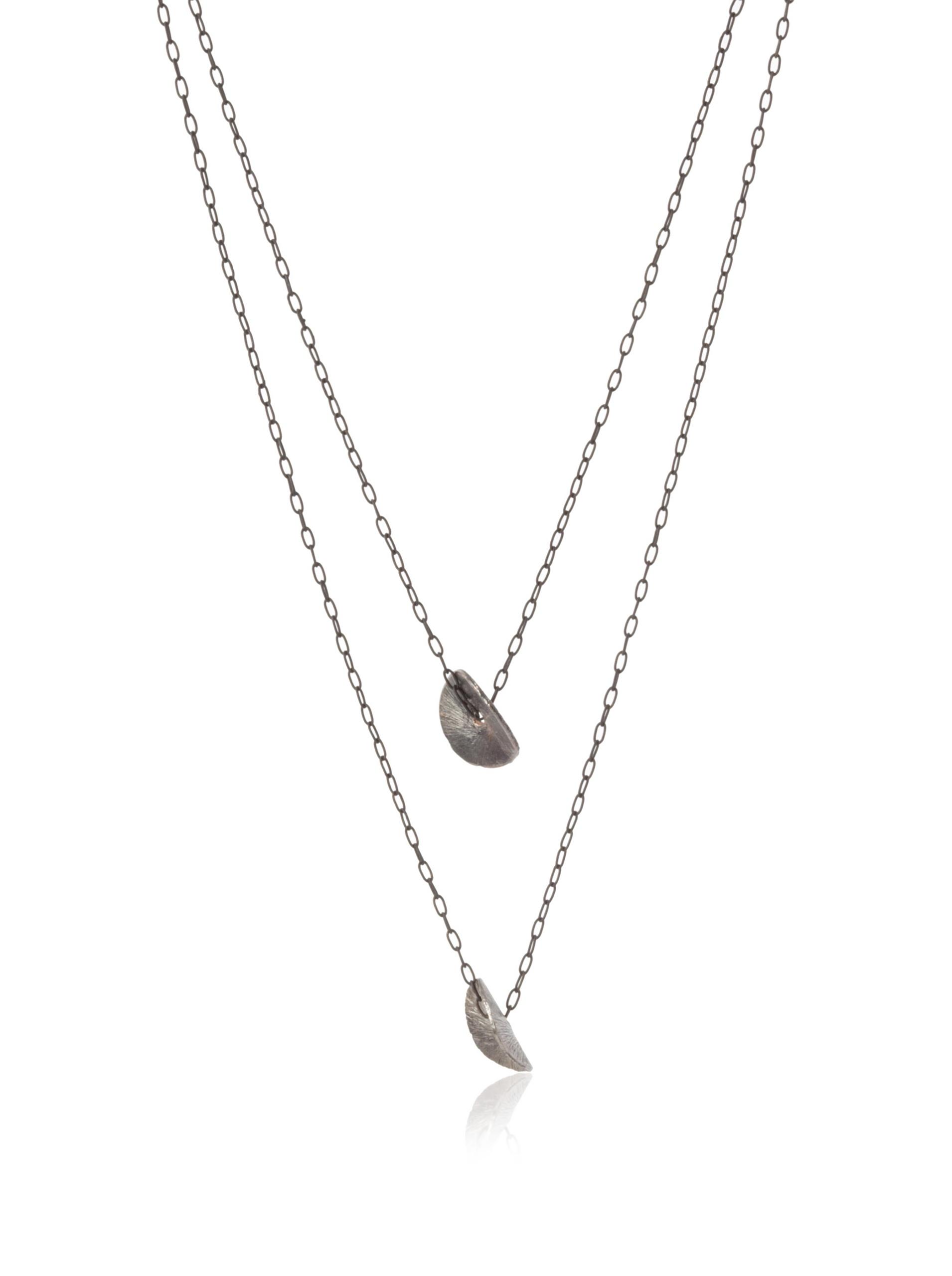 gorjana Two Petal Necklace, Gunmetal