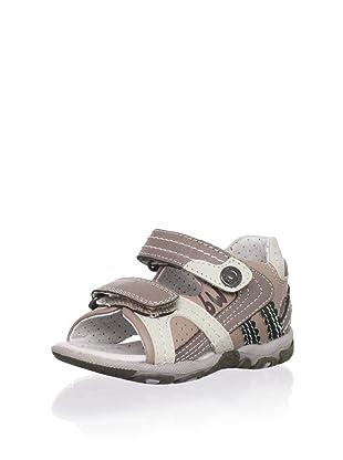 Billowy Kid's Dual Strap Sport Sandal (Brown)