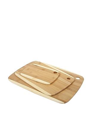 Core Bamboo Classic 2-Tone Board Combo Pack, Small/Medium/Large