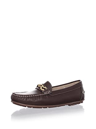 W.A.G. Kid's Moccasin with Contrast Braid Detail (Brown)