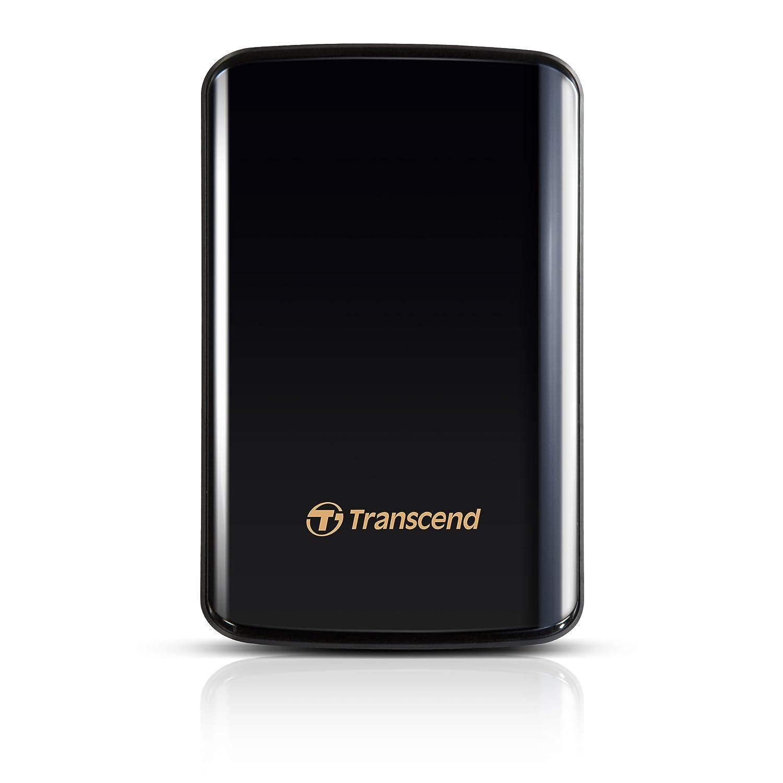 Transcend USB3.0/2.0 2.5インチ ポータブルHDD 耐衝撃 D3シリーズ 1TB ブラック 3年保証 TS1TSJ25D3