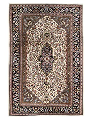 Bashian Rugs One-of-a-Kind Hand Knotted Persian Kum Rug, Ivory, 7' x 10' 4
