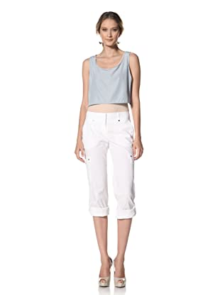 Kenneth Cole Women's Cargo Pant (White)