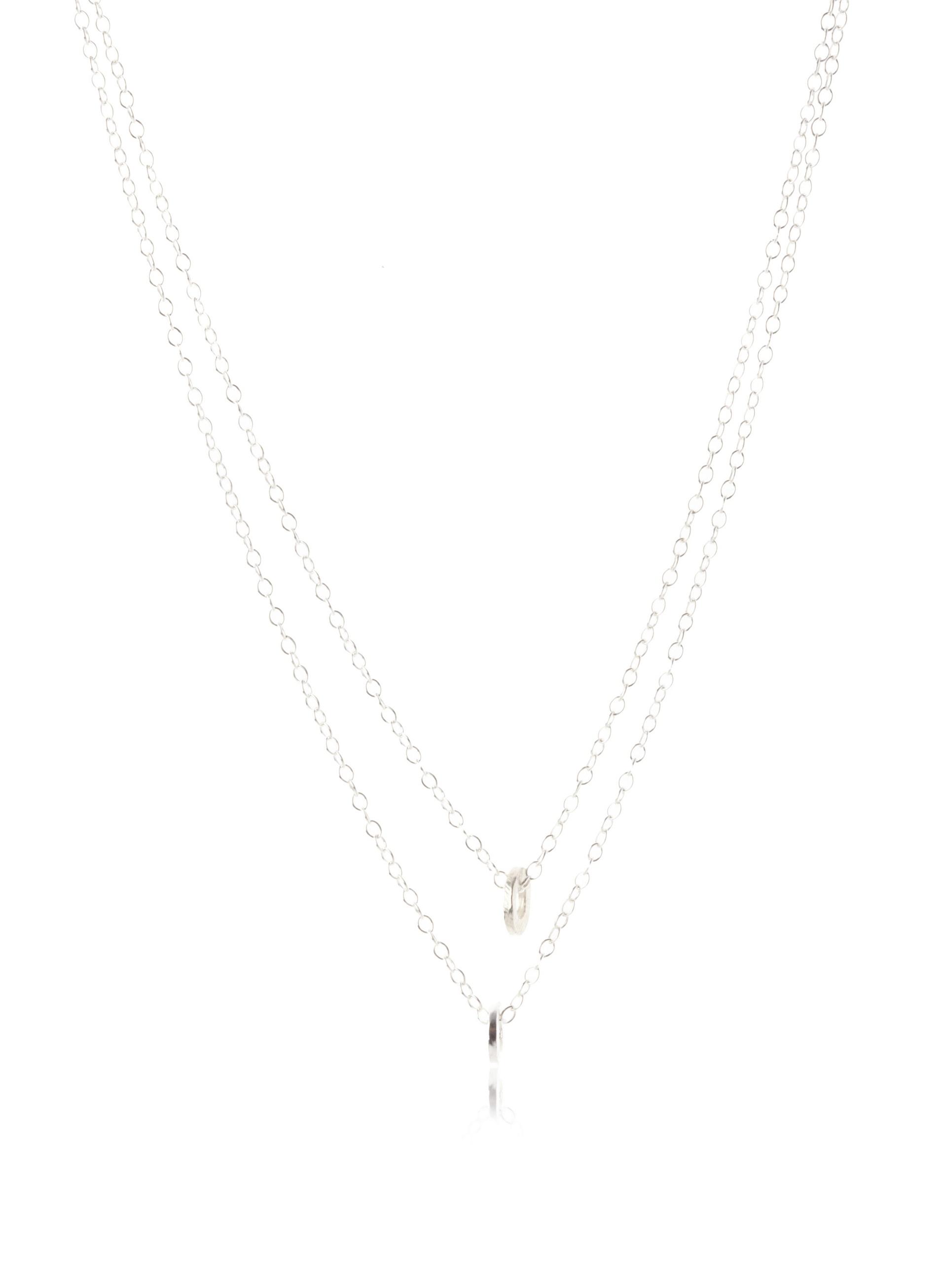 gorjana Double Tinsley Necklace, Silver