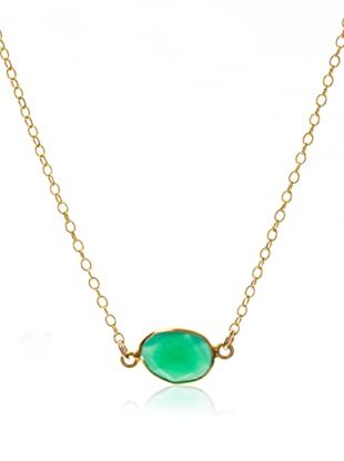 Lola James Pebbles Onyx Pendant Cable Necklace, Gold and Green