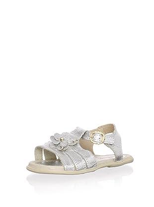 Ortopasso Kid's Embellished Sandal (Silver)