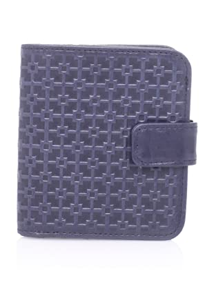 Hlaska Artifacts Women's Embossed W Small Snap Wallet, Navy