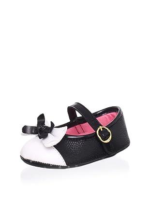 Pampili Kid's Cap-Toe Mary Jane (Black/White)