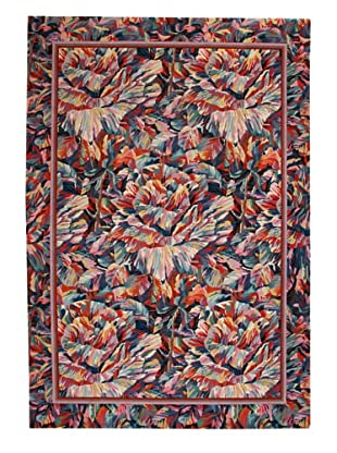 Roubini Abstract Garden Hand Knotted Wool Rug, Multi, 6' x 9'