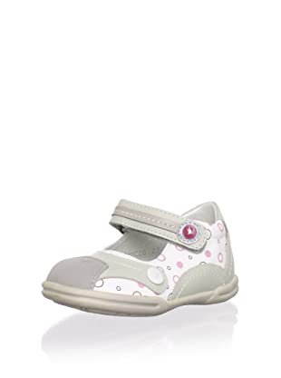 Billowy Kid's Mary-Jane Sneaker (White/Grey/Red)