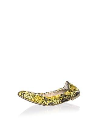 Boutique 9 Women's Augustina 3 Ballet Flat (Yellow Combo)