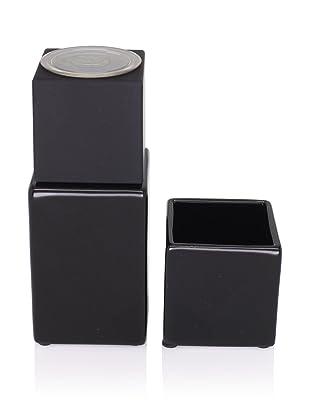 CULT DESIGN Cube Spice Bowl & Grinder Set, Black
