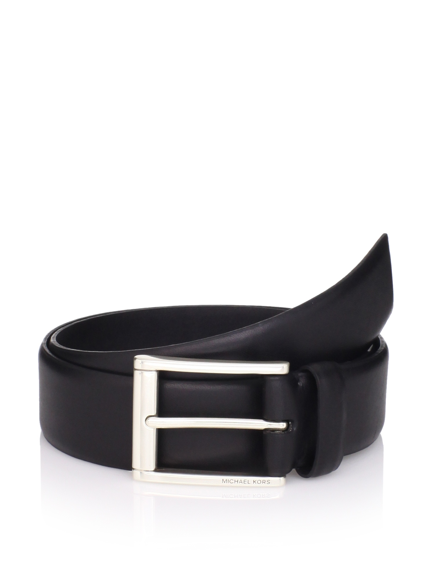 Michael Kors Men's Leather Belt (Black)