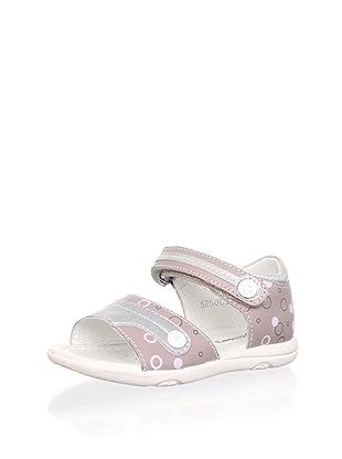Billowy Kid's Bubble Print Sandal (Pink)