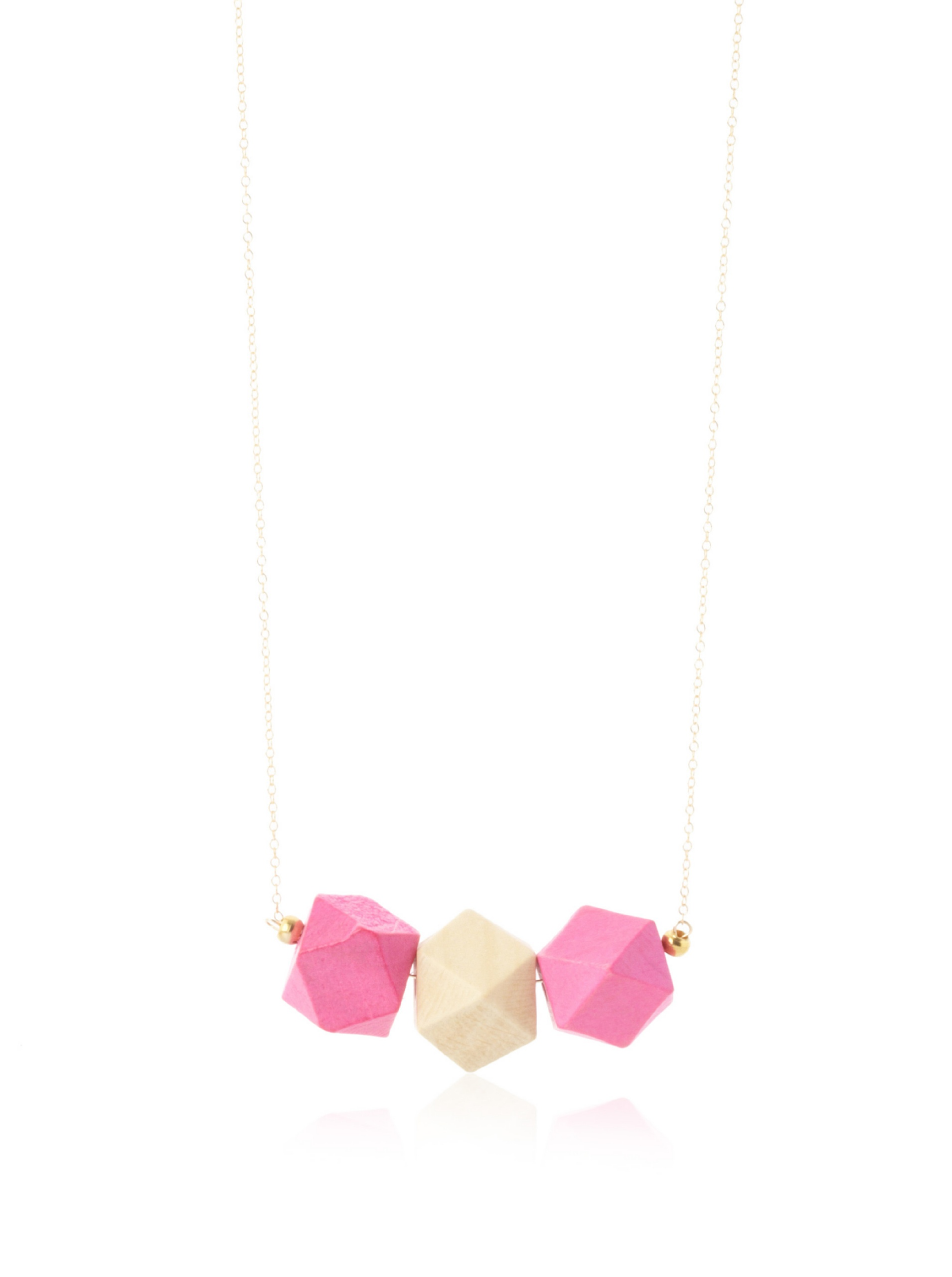 gorjana Color Block Necklace, Pink and Gold