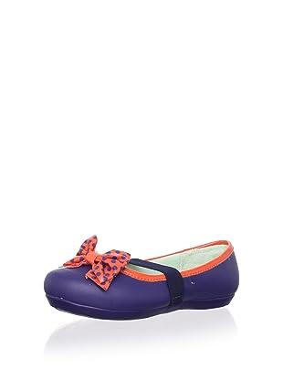 Pampili Kid's Mary Jane with Bow (Navy/Orange)