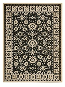 Indoor/Outdoor Traditional Rug (Cream/Black)