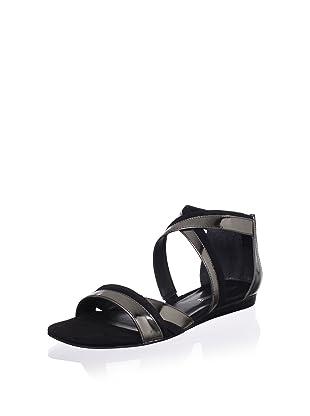 Pour La Victoire Women's Brienne Sandal (Pewter/Black)