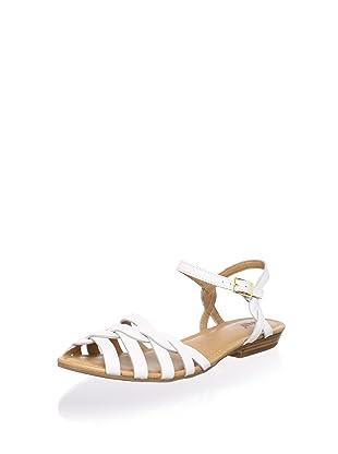 Bass Women's Clementine Flat Sandal (White)