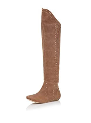 D-Segno Women's Sofia Tall Flat Boot (Texas Tobacco)