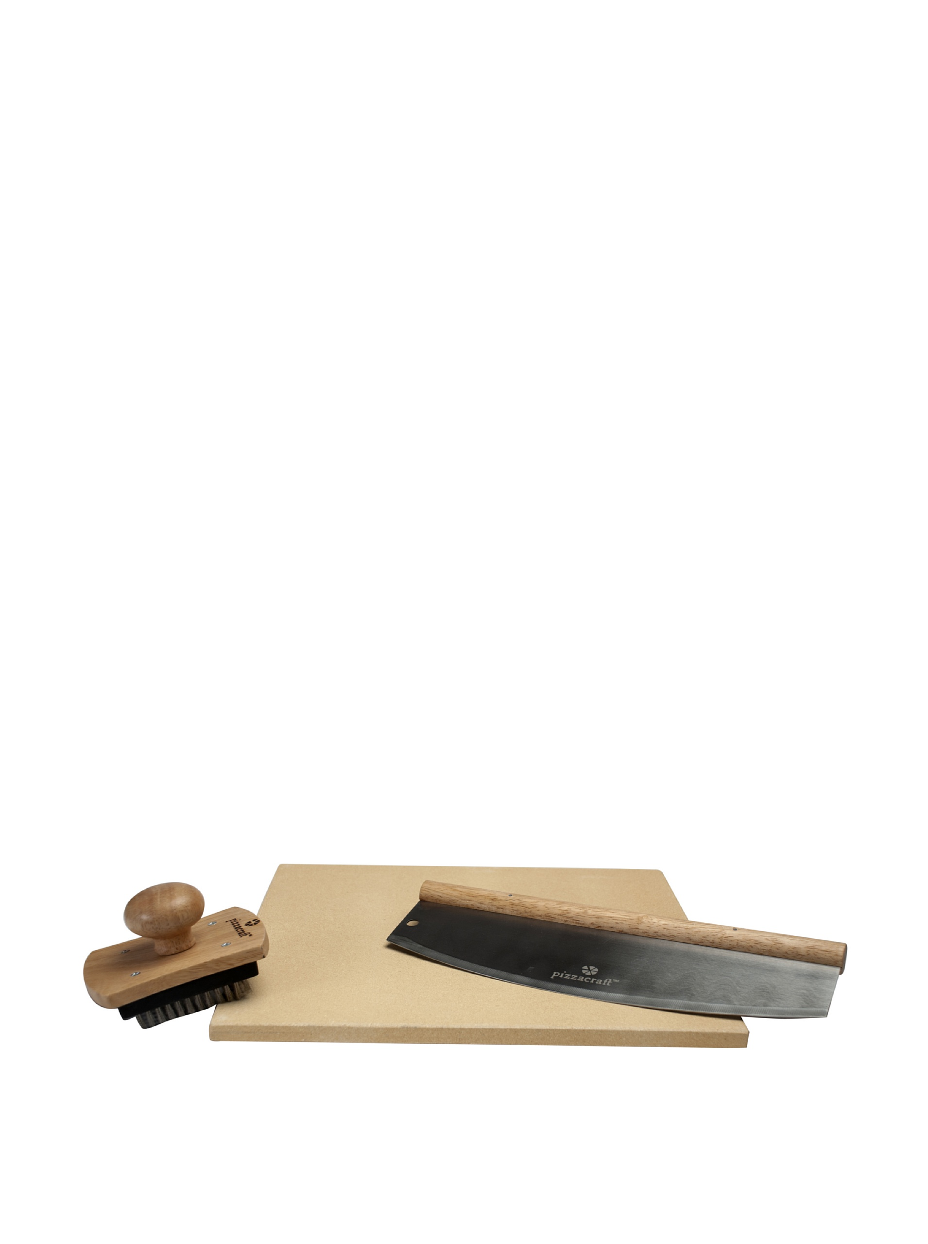 Pizzacraft Pizza On The Grill: Square Pizza Stone Set (Natural)