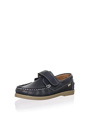 Billowy Kid's Leather Loafer (Black)