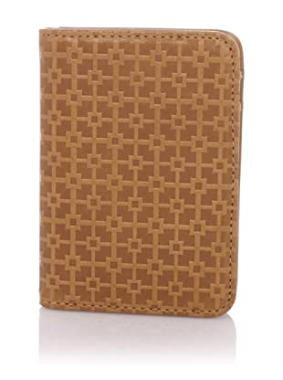 Hlaska Artifacts Women's Embossed Card Wallet (Camel)