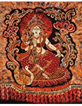 Exotic India Maa Saraswati - Batik Painting On Cotton