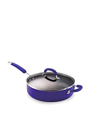 Rachael Ray Porcelain Enamel Nonstick 6-Quart Deep Saute Pan, Blue