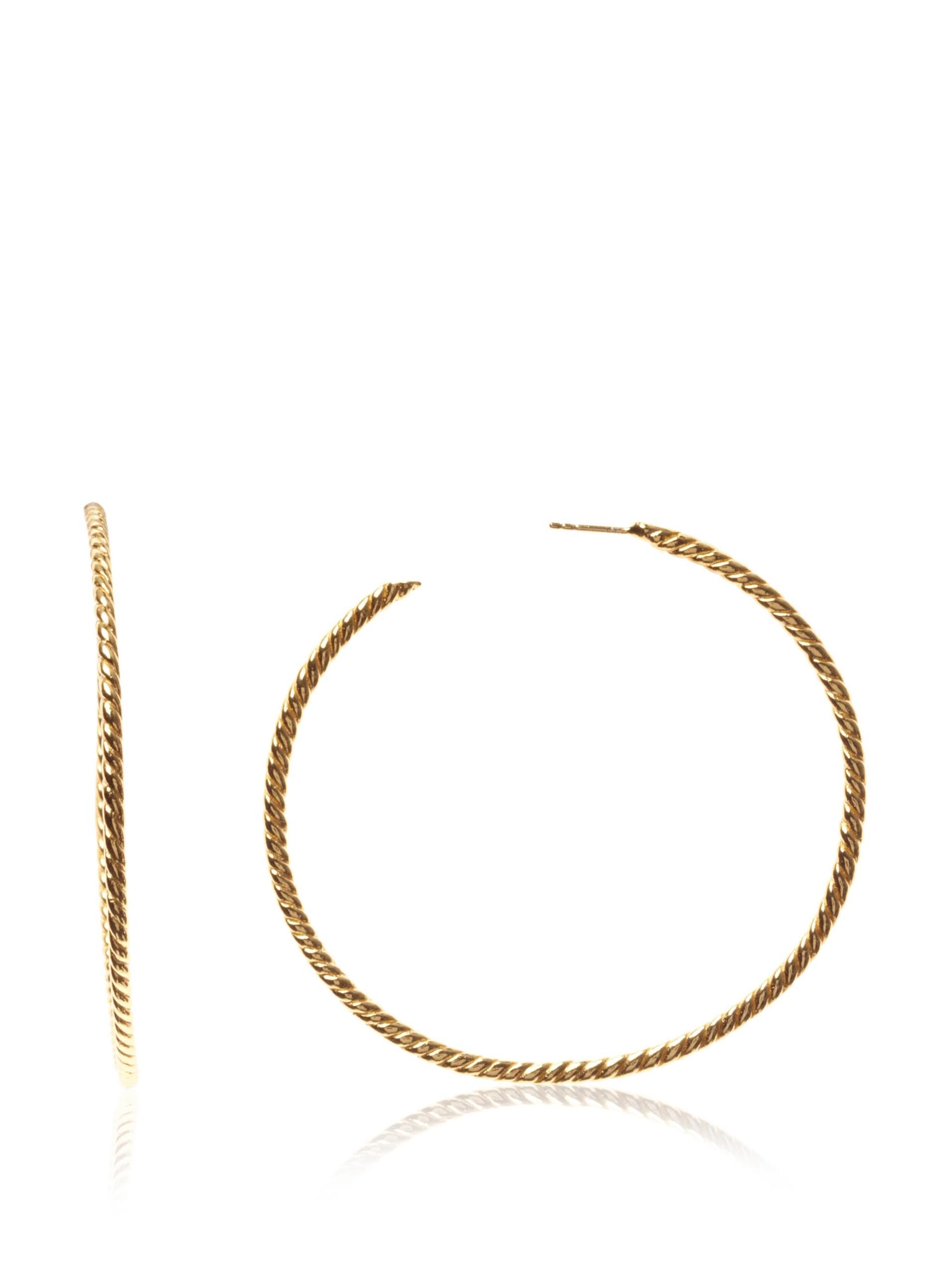 gorjana Rope Hoops, Gold