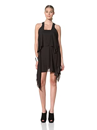 FACTORY by Erik Hart Women's Two Tiered Square Neck Dress (Onyx)